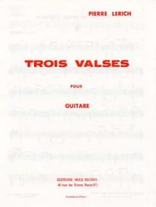LERICH P. VALSES GUITARE