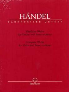 HAENDEL G.F. SONATES VIOLON