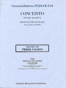 PERGOLESE G.B. CONCERTO SOL MAJEUR FLUTE