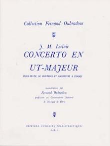 LECLAIR J.M. CONCERTO UT MAJEUR FLUTE