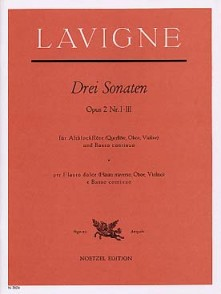 LAVIGNE P. 6 SONATES OP 2 VOL 1 FLUTE ALTO