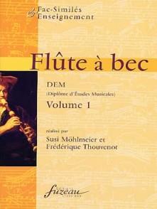 FLUTE A BEC D.E.M VOL 1