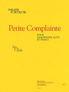 PORTEJOIE P. PETITE COMPLAINTE SAXO ALTO