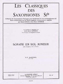 HAENDEL G.F. SONATE SOL MINEUR SAXO TENOR