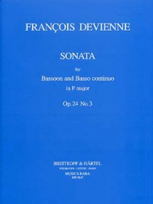 DEVIENNE F. SONATA FA MAJEUR BASSON