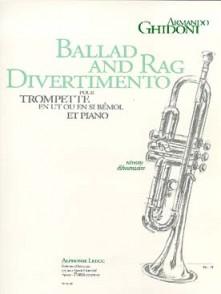 GHIDONI A. BALLAD AND RAG DIVERTIMENTO TROMPETTE