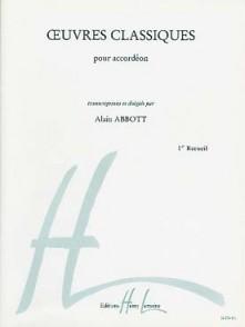 ABBOTT A. OEUVRES CLASSIQUES VOL 1 ACCORDEON