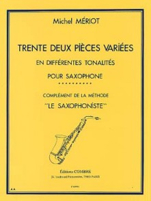 MERIOT M. 32 PIECES VARIEES VOL 1 SAXOPHONE