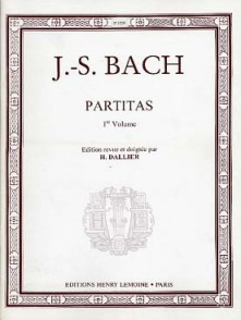 BACH J.S. PARTITAS VOL 1 PIANO