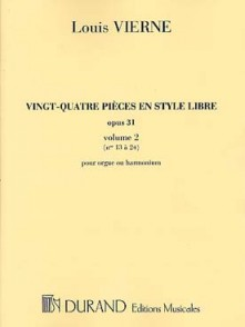 VIERNE L. 24 PIECES EN STYLE LIBRE VOL 2 ORGUE