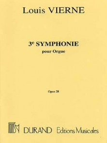 VIERNE L. 3ME SYMPHONIE OP 28 ORGUE