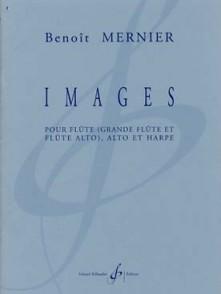 MERNIER B. IMAGES FLUTE ALTO ET HARPE