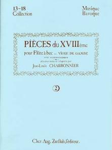 CHARBONNIER J.L. PIECES 18ME SIECLE VOL 2 FLUTE A BEC SOPRANO