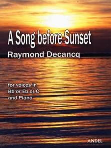 DECANCQ R. A SONG BEFORE SUNSET FLUTE A BEC