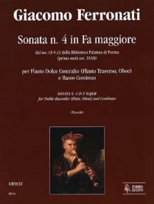 FERRONATI G. SONATE N°4 FLUTE A BEC