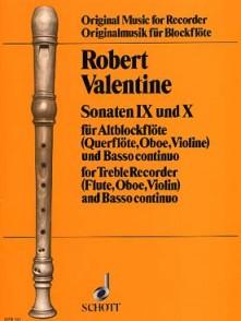 VALENTINE R. SONATES N°9 ET 10 FLUTE A BEC