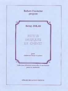 JOLAS B. PETITES MUSIQUES DE CHEVET CLARINETTE BASSE