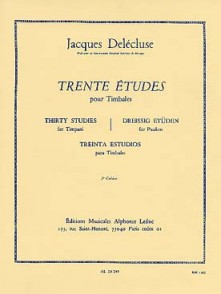 DELECLUSE J. ETUDES (30) 3ME CAHIER TIMBALES
