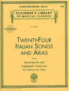 24 ITALIAN SONGS AND ARIAS OF THE 17ME ET 18ME SIECLE MEDIUM LOW