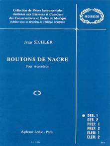 SICHLER J. BOUTONS DE NACRE ACCORDEON