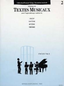 FLEURANT M./VOIRPY A. TEXTES MUSICAUX CYCLE 1 VOL 2
