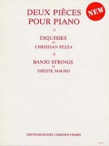 PEZZA C./MAURO O. ESQUISSES BANJO STRINGS PIANO