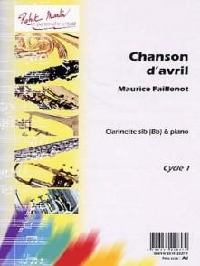 FAILLENOT M. CHANSON D'AVRIL CLARINETTE