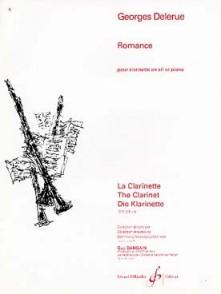 DELERUE G.  ROMANCE CLARINETTE