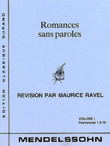 MENDELSSOHN F. ROMANCES SANS PAROLES VOL 1 PIANO