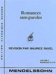 MENDELSSOHN F. ROMANCES PAROLES VOL 2 PIANO