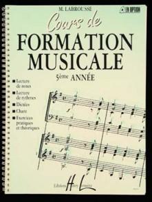LABROUSSE M. COURS DE FORMATION MUSICALE 5ME ANNEE