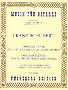 SCHUBERT F. ORIGINAL DANCES FLUTE GUITARE