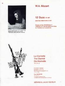 MOZART W.A. DUOS K 487 CLARINETTES