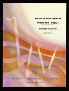 STRAUSS J. PIZZICATO POLKA CLARINETTES