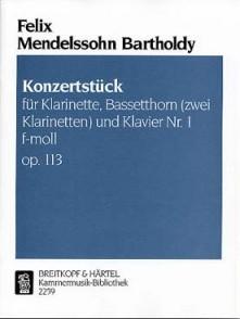 MENDELSSOHN F. KONZERSTUCK N°1 OP 113 CLARINETTES