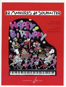 DELALE E. MANIERES DE SOUHAITER HAPPY BIRTHDAY PIANO 4 MAINS