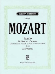 MOZART W.A. RONDO KV 412 COR