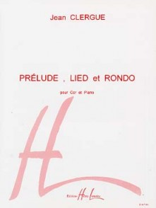CLERGUE J. PRELUDE LIED RONDO COR