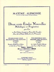 MAXIME-ALPHONSE 200 ETUDES NOUVELLES MELODIQUES VOL 2 COR