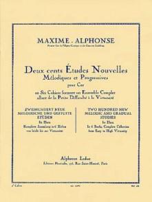 MAXIME-ALPHONSE 200 ETUDES NOUVELLES MELODIQUES VOL 4 COR