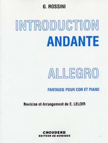 ROSSINI G.  INTRODUCTION ANDANTE ALLEGRO COR