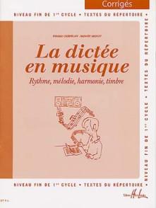 CHEPELOV P./MENUT B. LA DICTEE EN MUSIQUE VOL 3: CORRIGE