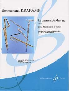 KRAKAMP E. LE CARNAVAL DE MESSINE OP 91 FLUTE PICCOLO