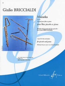 BRICCIALDI G. MAZURKA OP 88 FLUTE PICCOLO