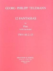 TELEMAN G.P. 12 FANTAISIES FLUTE