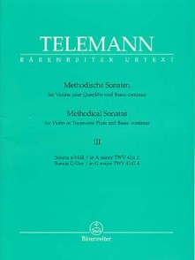 TELEMANN G.P. METHODICAL SONATAS VOL 3 FLUTE