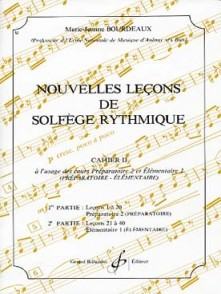 BOURDEAUX M.J. NOUVELLES LECONS DE SOLFEGE RYTHMIQUE VOL 2