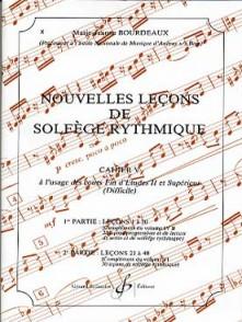 BOURDEAUX M.J. NOUVELLES LECONS DE SOLFEGE RYTHMIQUE VOL 5