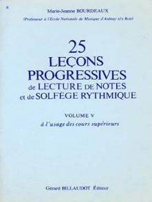 BOURDEAUX M.J. 25 LECONS PROGRESSIVES VOL 5