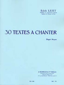 LEJET E. TEXTES A CHANTER